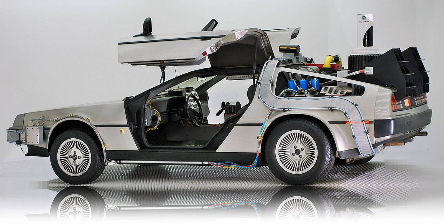"This Volo Auto Museum fan favorite, an exhibition model of the ""Back to the Future"" DeLorean, will be awarded to a contest winner in a drawing this fall if the Chicago Cubs make good on a 2015 World Series win, as predicted in the movie, ""Back to the Future Part II."""