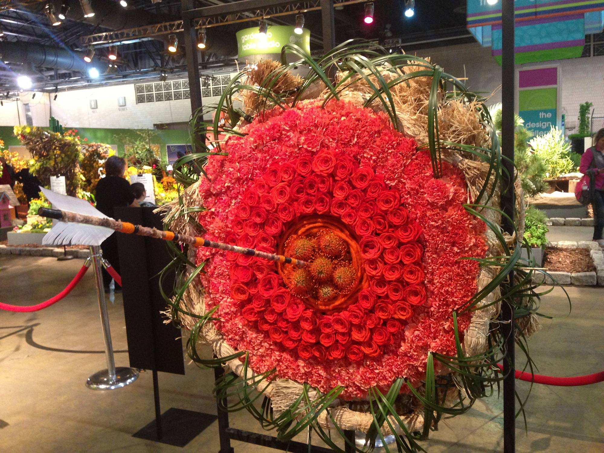 The Philadelphia Flower Show runs through Sunday in downtown Philadelphia. This year, design exhibits are linked to Disney characters and movies, like this floral tribute to the archer princess Merida.