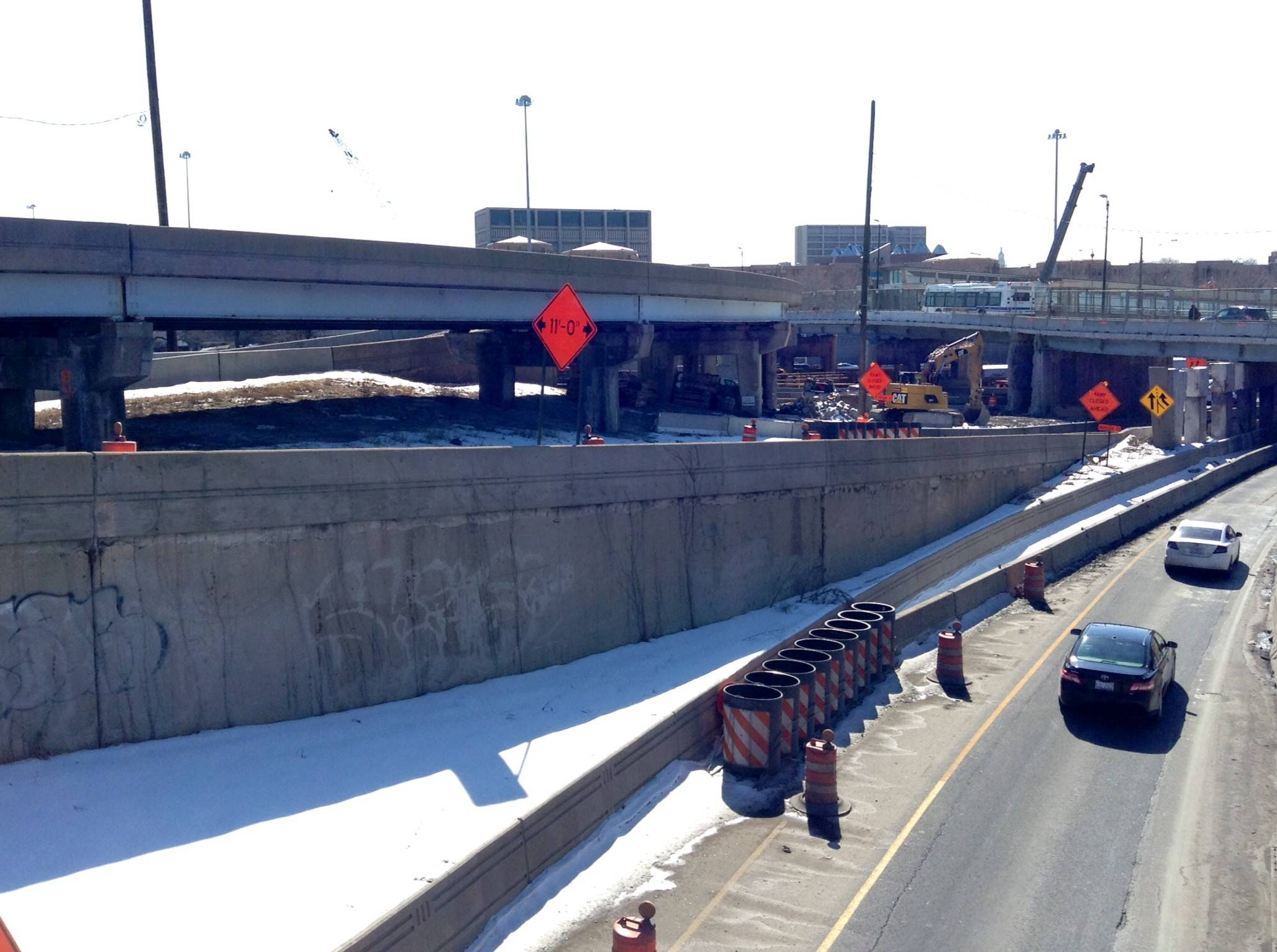 The ramp leading to the Eisenhower Expressway will be widened to two lanes in 2016.