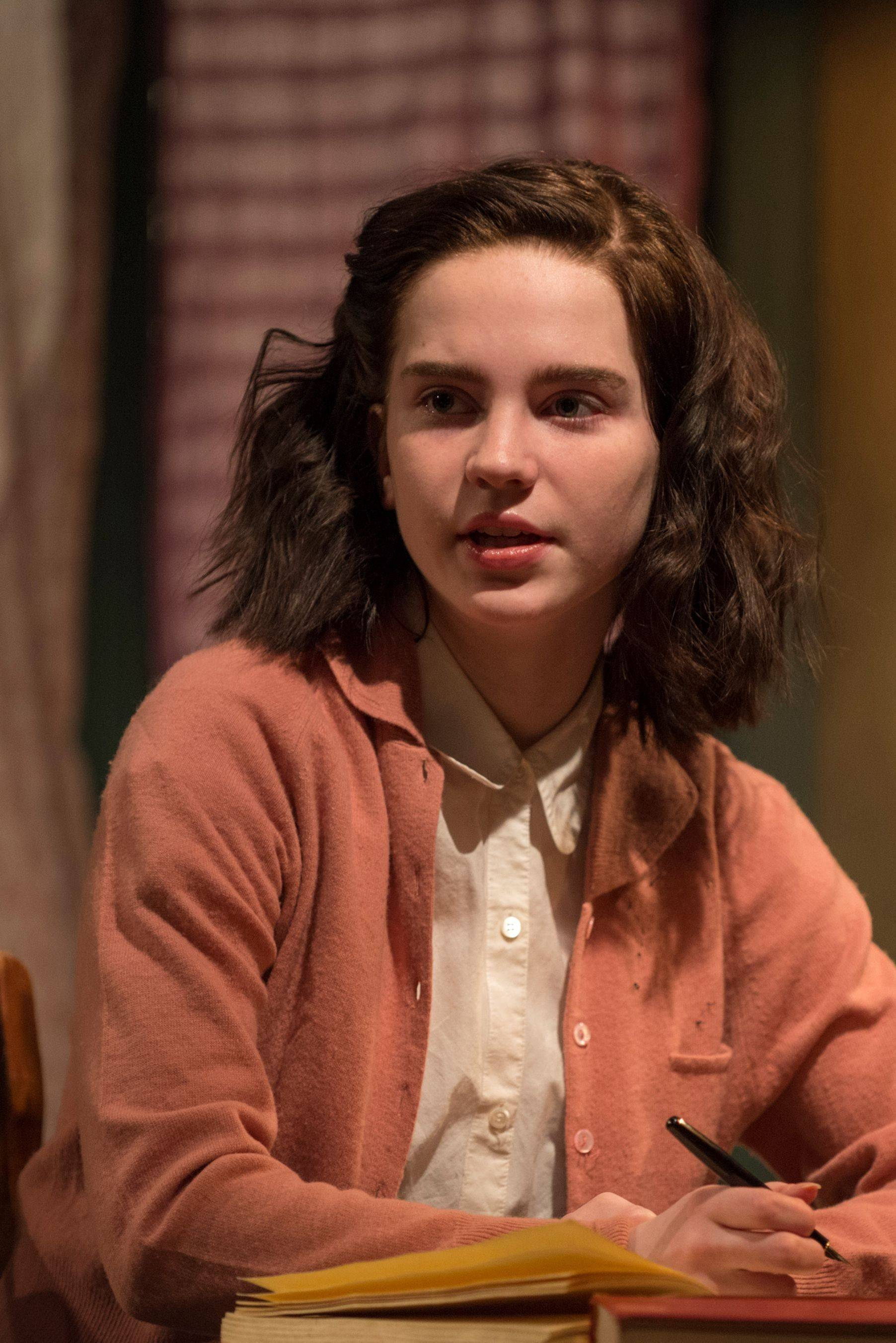 "Sophie Thatcher, 14, plays Anne in Writers Theatre's ""The Diary of Anne Frank."""