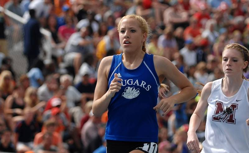 Vernon Hills product Kelley Gallagher, here competing in the 1,600-meter  run in the
