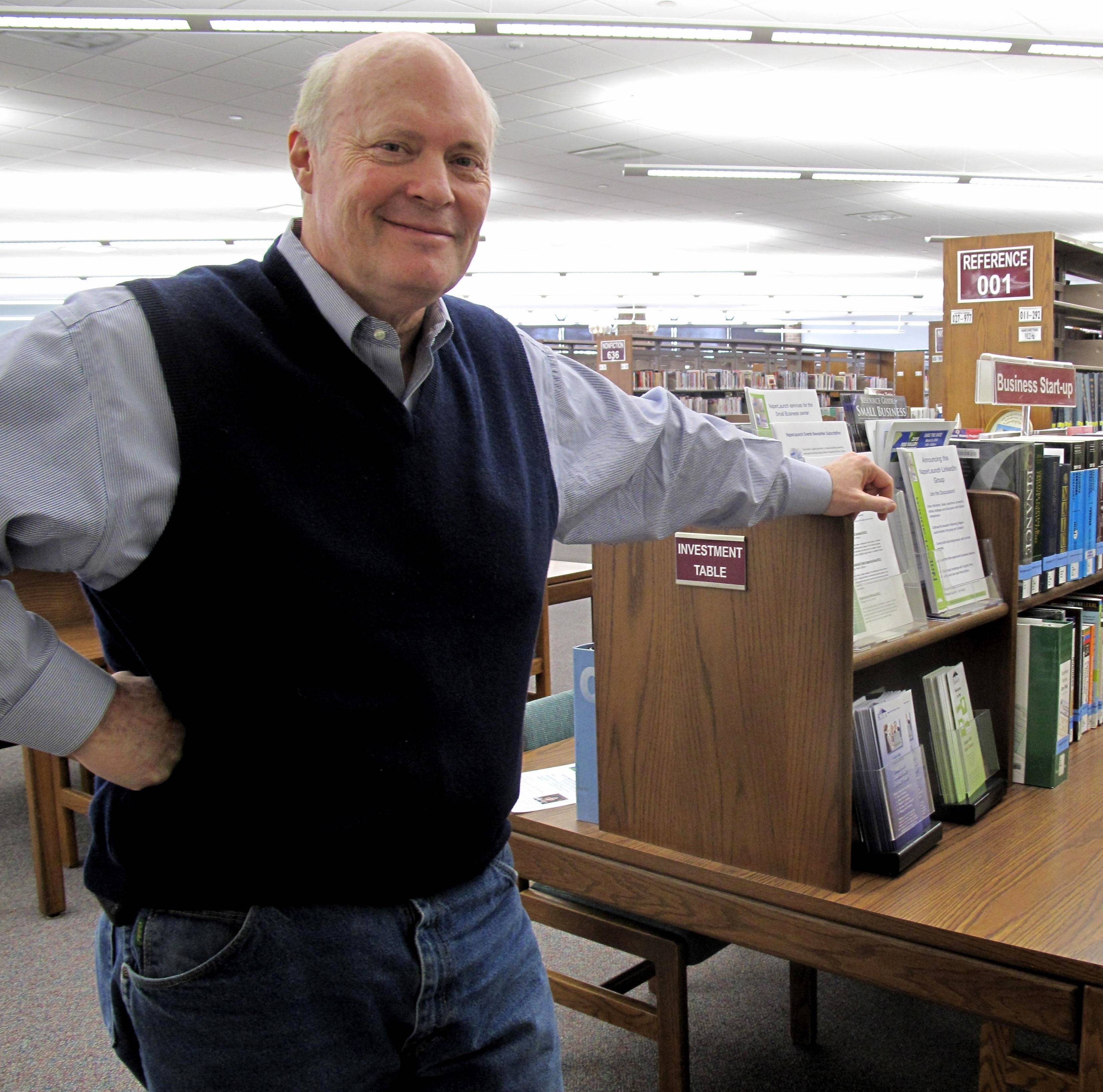 Mark Quigley, 59, of Naperville, is an entrepreneur whose new business growth is being helped along by NaperLaunch, the business startup center at the Naperville Public Library. Quigley has created a software program called Intercept that guides people through the process of creating a business plan.
