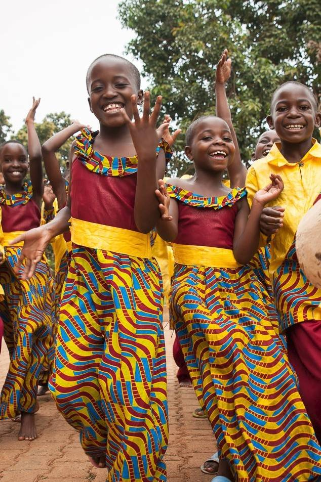 Courtesy of Lynne DobsonThe African Children's Choir performs a free concert for the public.