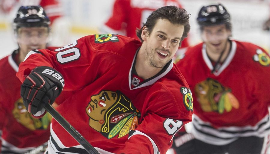 Antoine Vermette has found a new home at the United Center with the Blackhawks.