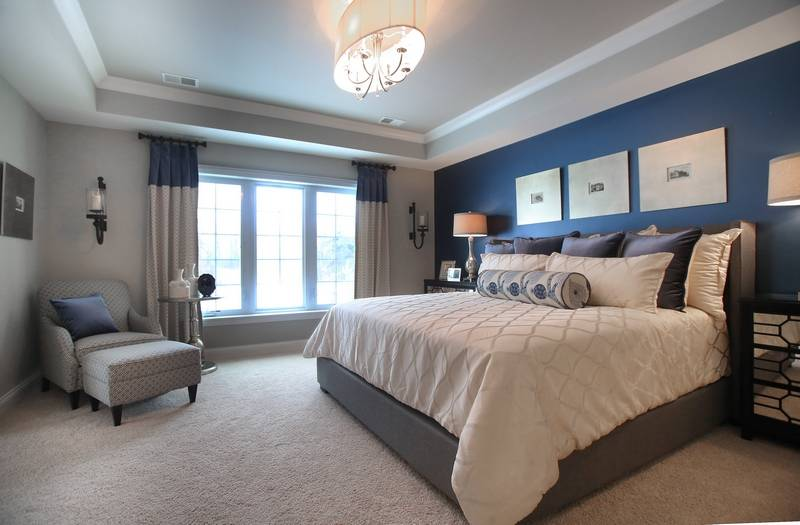 Today 39 s top model homes reveal newest design trends Model home master bedroom decor
