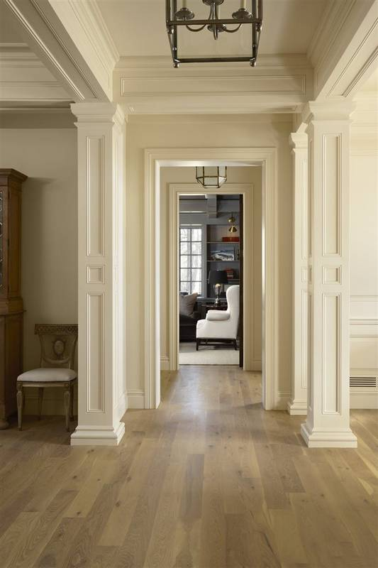 Crown Moldings Baseboards Casings And Column Trim Painted The Same