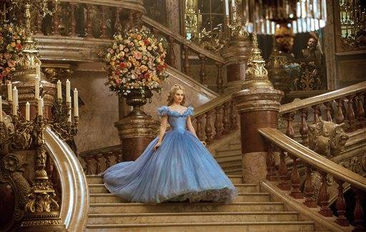 "Lily James as Cinderella in Disney's live-action feature film inspired by the classic fairy tale, ""Cinderella."""