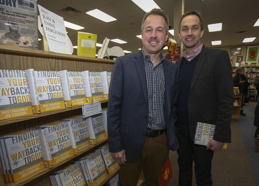 "Dave Ferguson, left, and his brother, Jon, have written the book ""Finding Your Way Back to God"" based on their 25 years of pastoring experience."