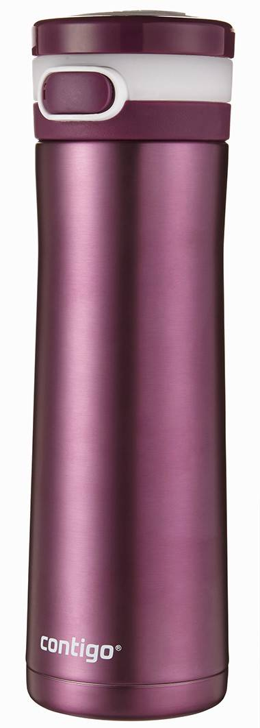 Sip it­ -- cold: 18 hours. That's how long beverages will stay cold in Contigo's Glacier 20-ounce hydration bottle. There's a large opening for ice in this stylish, comfortable-to-hold, vacuum-insulated bottle that locks so it won't spill in your car, in your backpack or your briefcase. $17. Available now at national retailers.