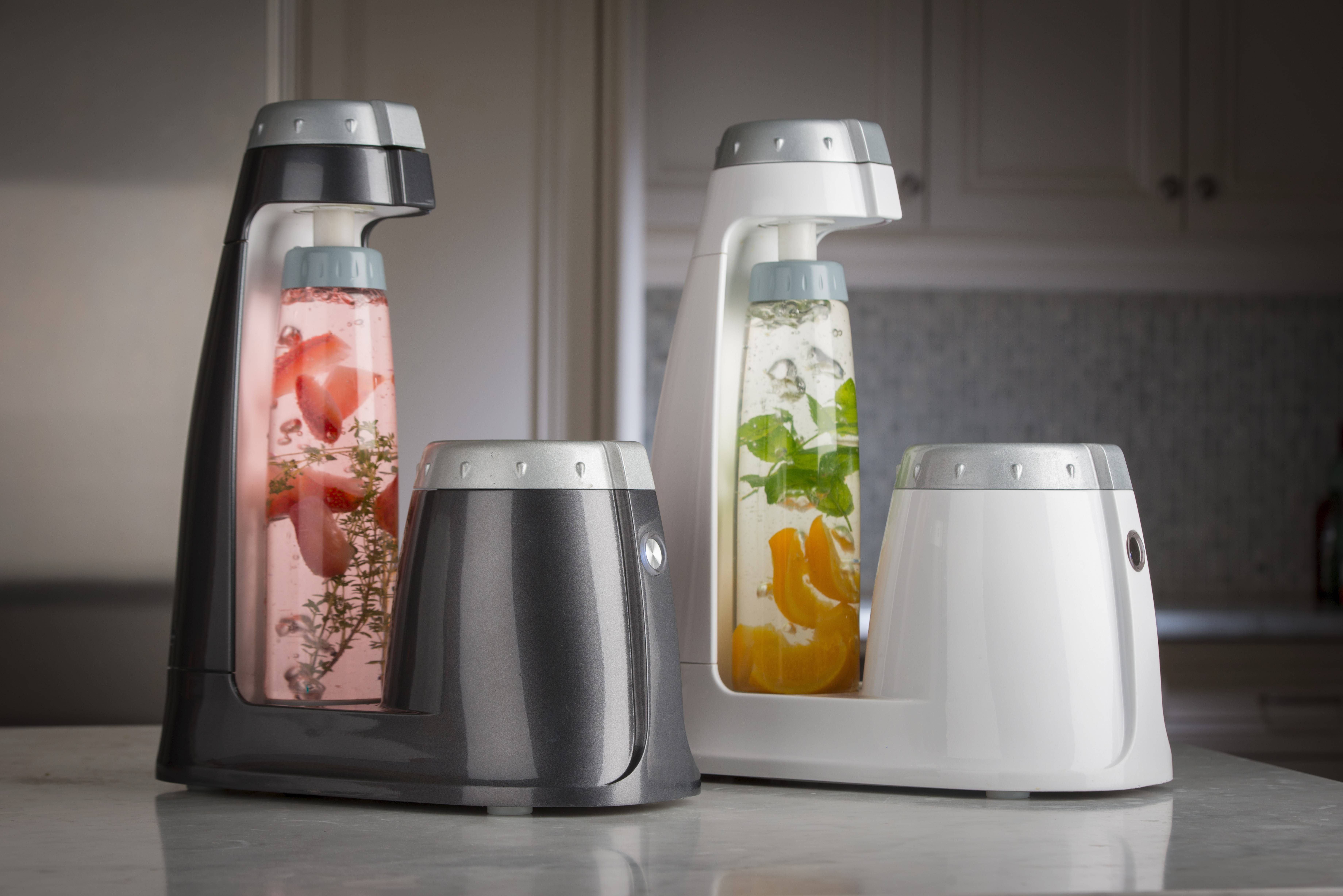 Fizz it: Turn ordinary tap water into a refreshing quencher with bonne O home carbonation system. The countertop unit features a patented tank-free carbonator to turn infused waters (think lemon-basil or cucumber-lime) into sugar-free sparkling beverages. $149.99. Available this spring at Williams Sonoma and Bed, Bath and Beyond.
