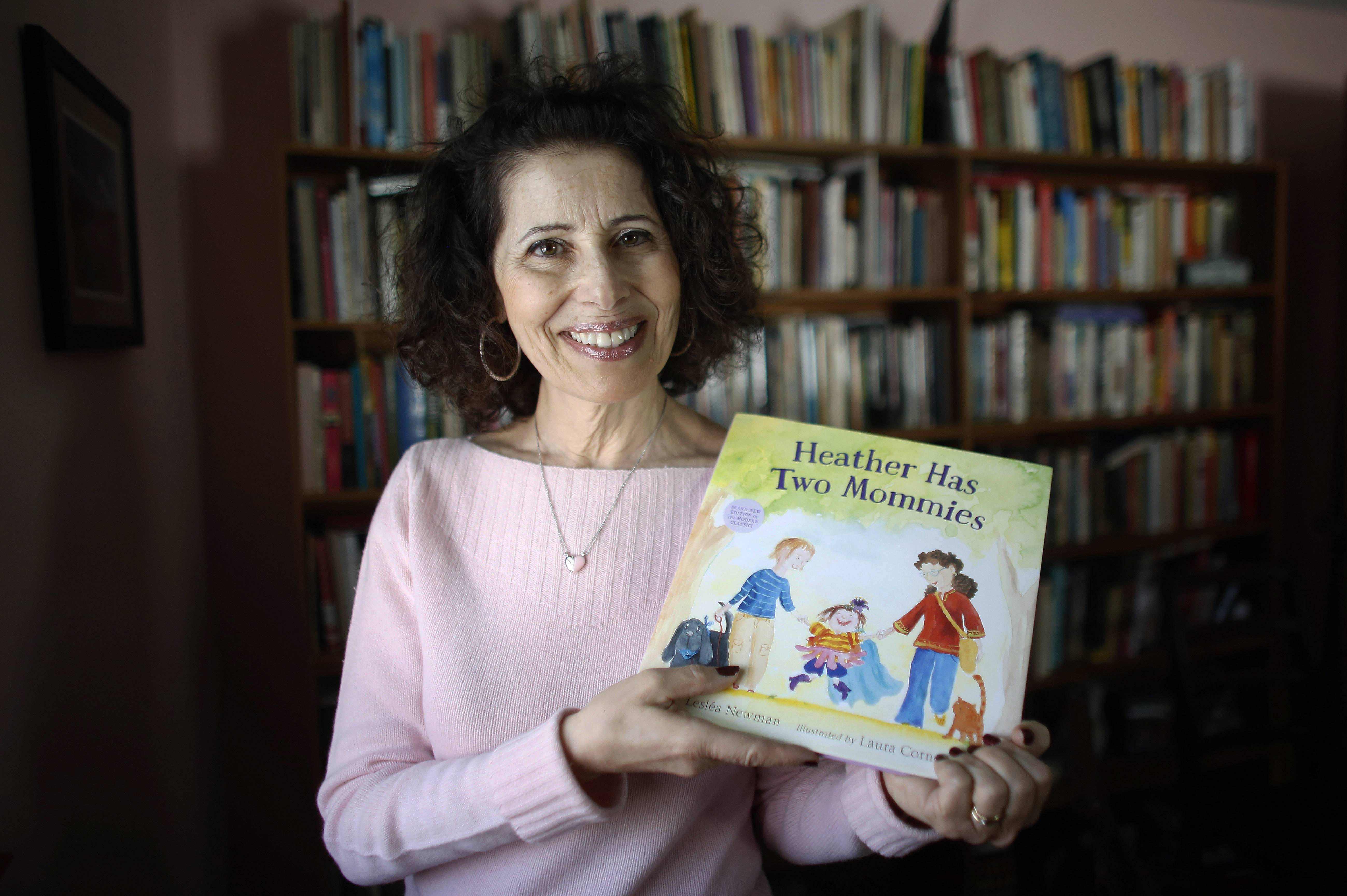 "Author Leslea Newman wrote the original version of ""Heather Has Two Mommies"" 25 years ago. It's about a little girl named Heather and her two happy mommies. The book has been updated with fresh illustrations from a new artist."
