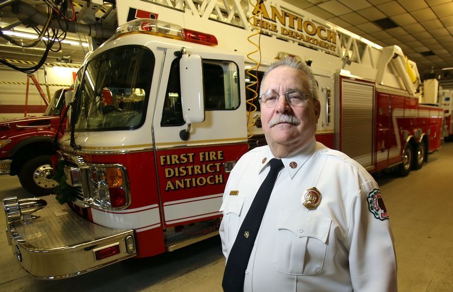 Antioch Fire Chief John Nixon and other representatives of Antioch Township and the First Fire Protection District have been meeting with area residents to explain the tax proposal for ambulance service.