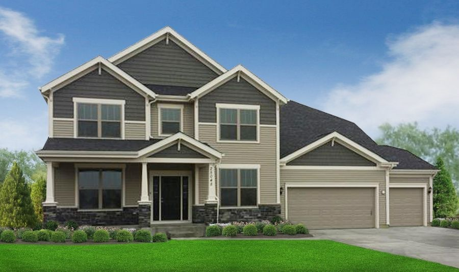 This is a Jamestown Craftsman design. William Ryan Homes recently redesigned all of its floor plans.