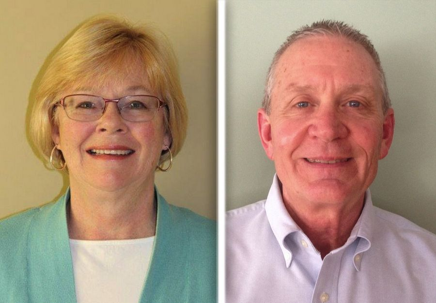Jennifer Fosness, left, and Brian Swanson, right, are candidates for Wauconda Unit District 118 in the 2015 election.