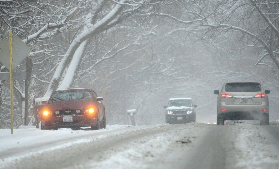Plows were out, but rush-hour snow prevailed