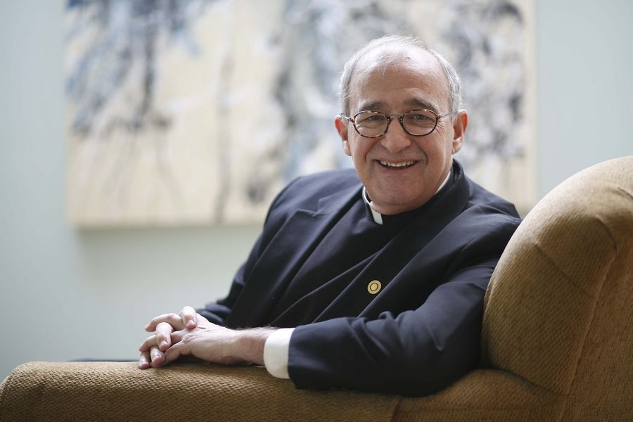 The Rev. Jim Swarthout of Barrington is the clergy community coordinator for Rosecrance Health Network, serving as a cross between a priest and an addiction counselor.