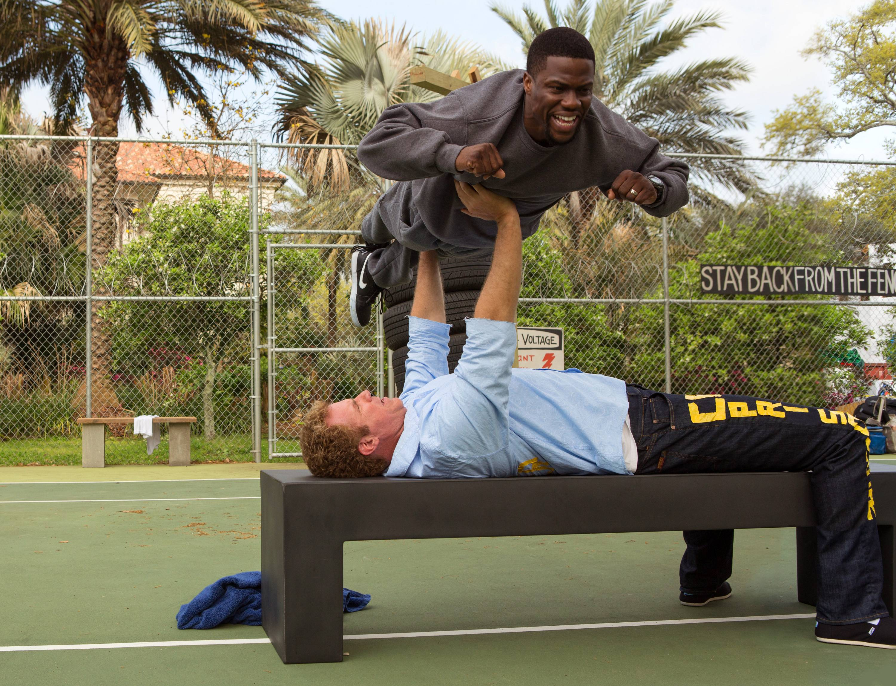 "James (Will Ferrell) preps for prison with help from Darnell (Kevin Hart) in ""Get Hard."""
