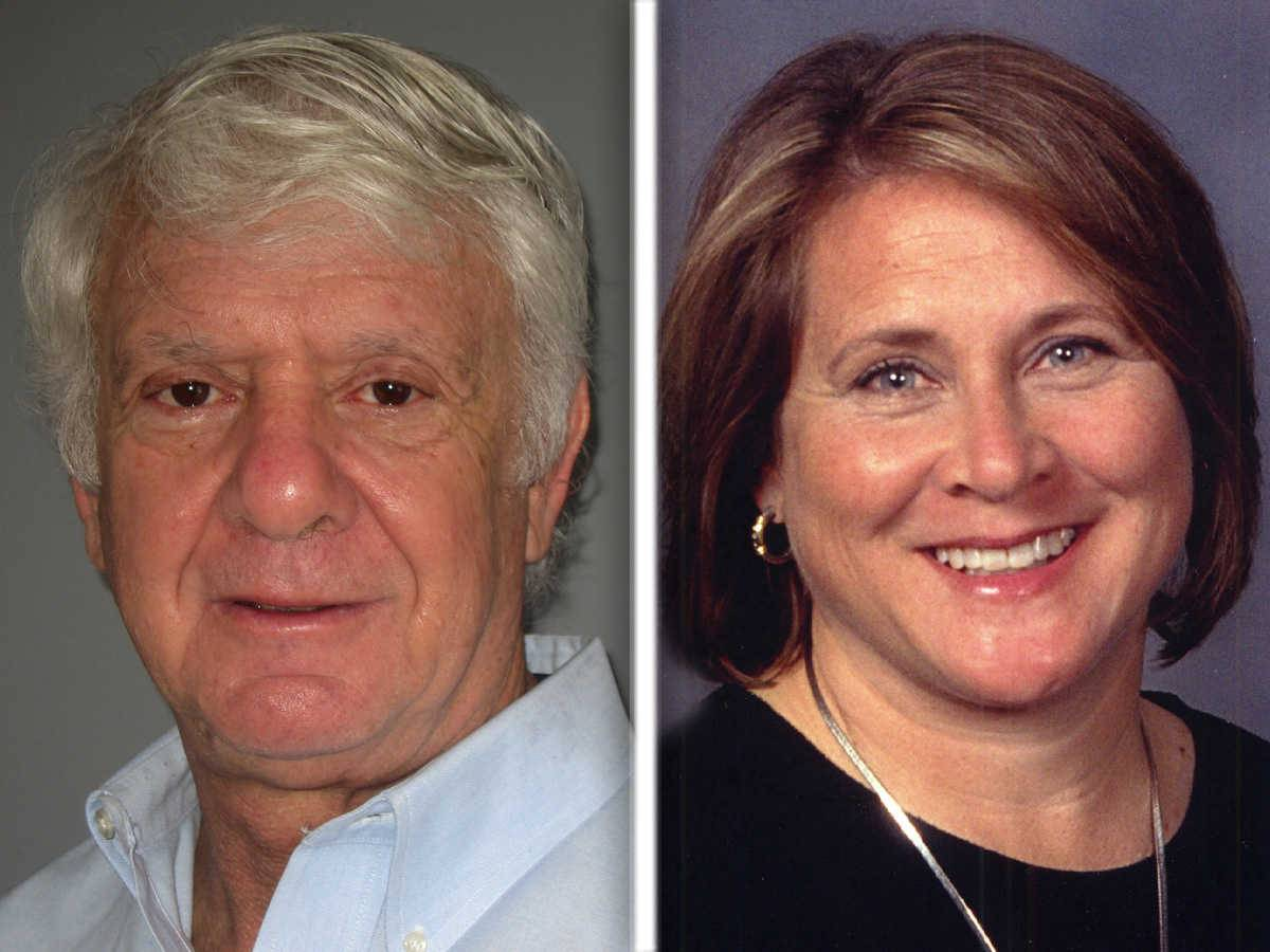 Harry Blecker and Patsy Smith, are candidates for Campton Hills village president.