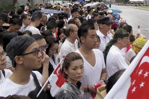 Singapore bids farewell to Lee Kuan Yew in elaborate funeral