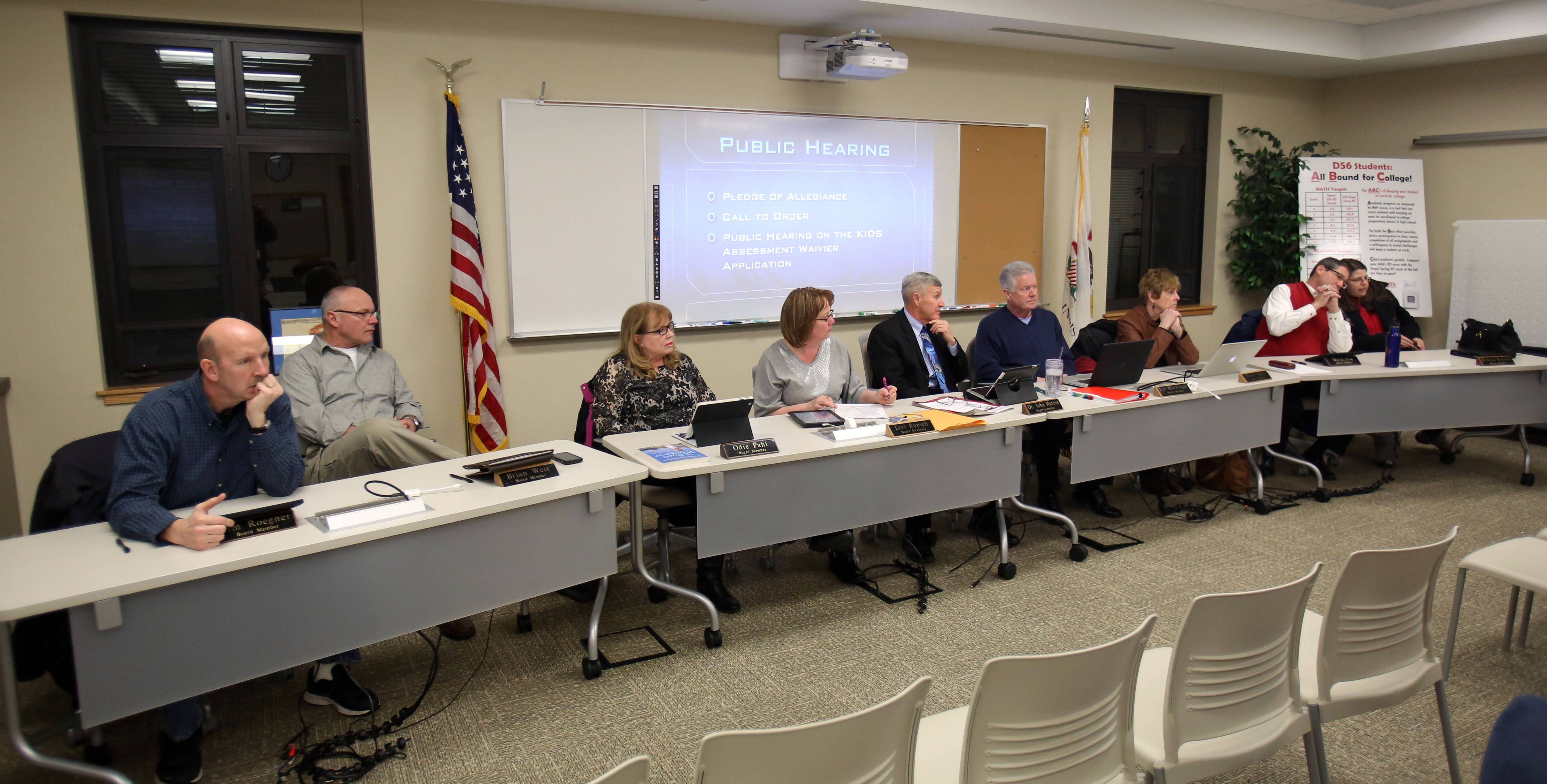 Five of seven Gurnee Elementary District 56 board members have some type of connection to the education industry.