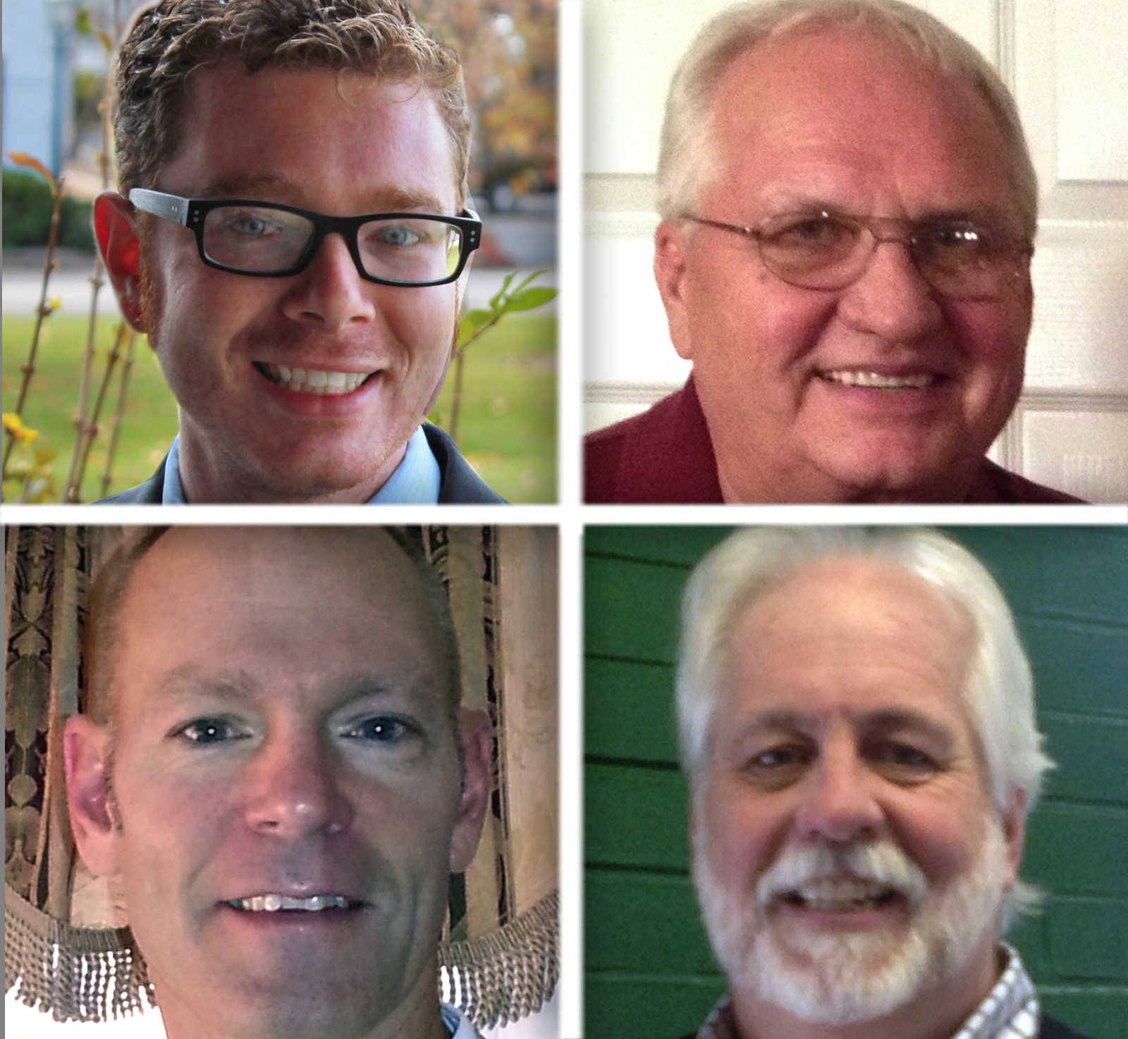 Upper from left, Dakotah Norton and Bill Rekus and lower from left, Paul Roscoe and Kerston Russell are candidates for Mundelein Village Board in the 2015 election.