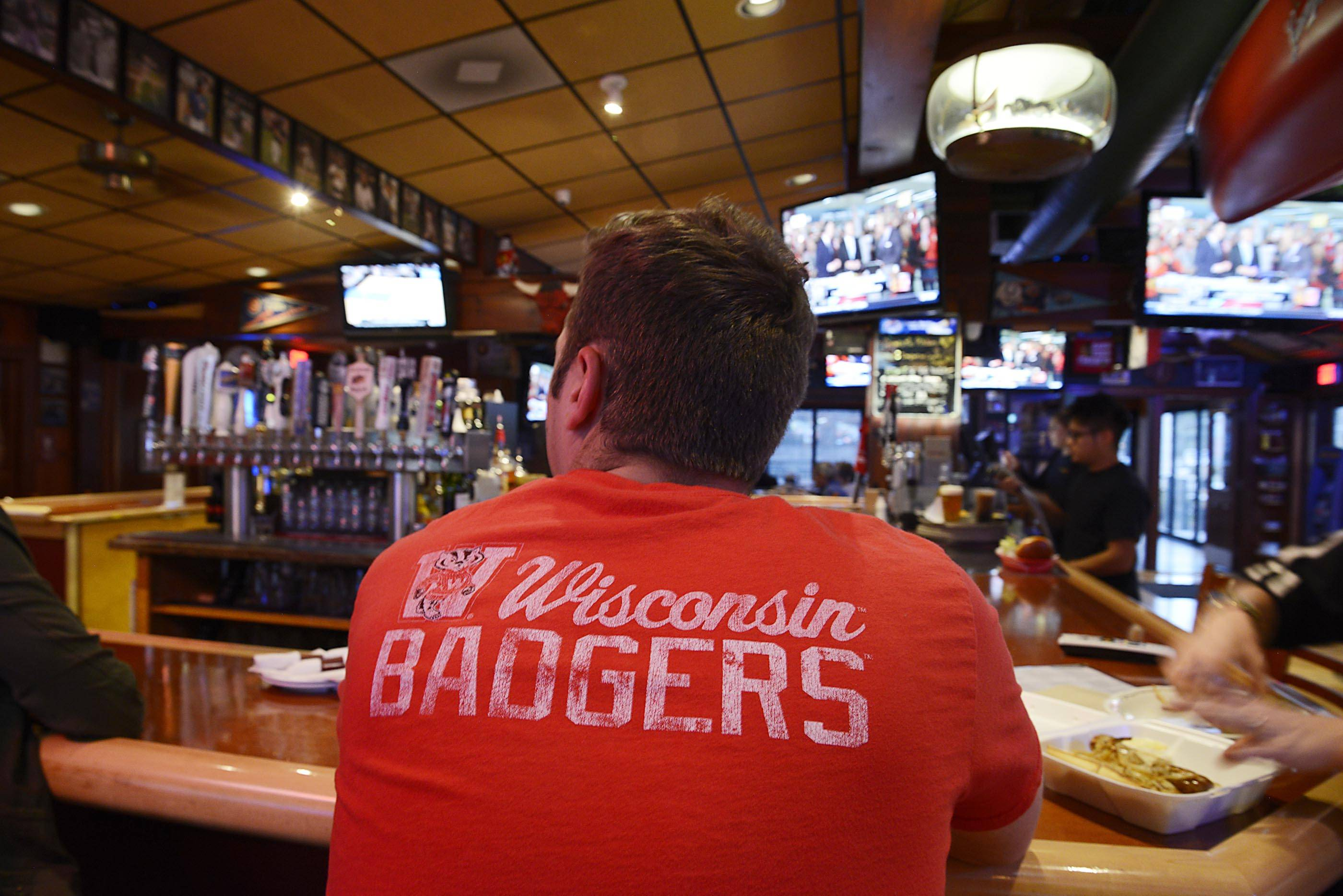 The Countryside Saloon in Des Plaines is a Wisconsin Badgers bar, and fans will gather there this weekend to watch the NCAA Final Four tournament.