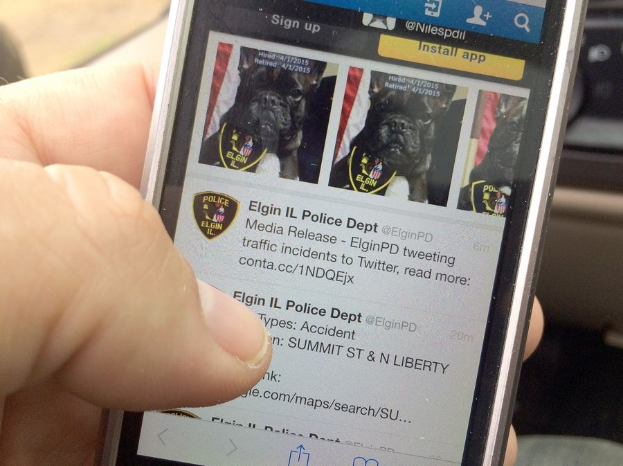 You can get real-time traffic data on Elgin police Twitter