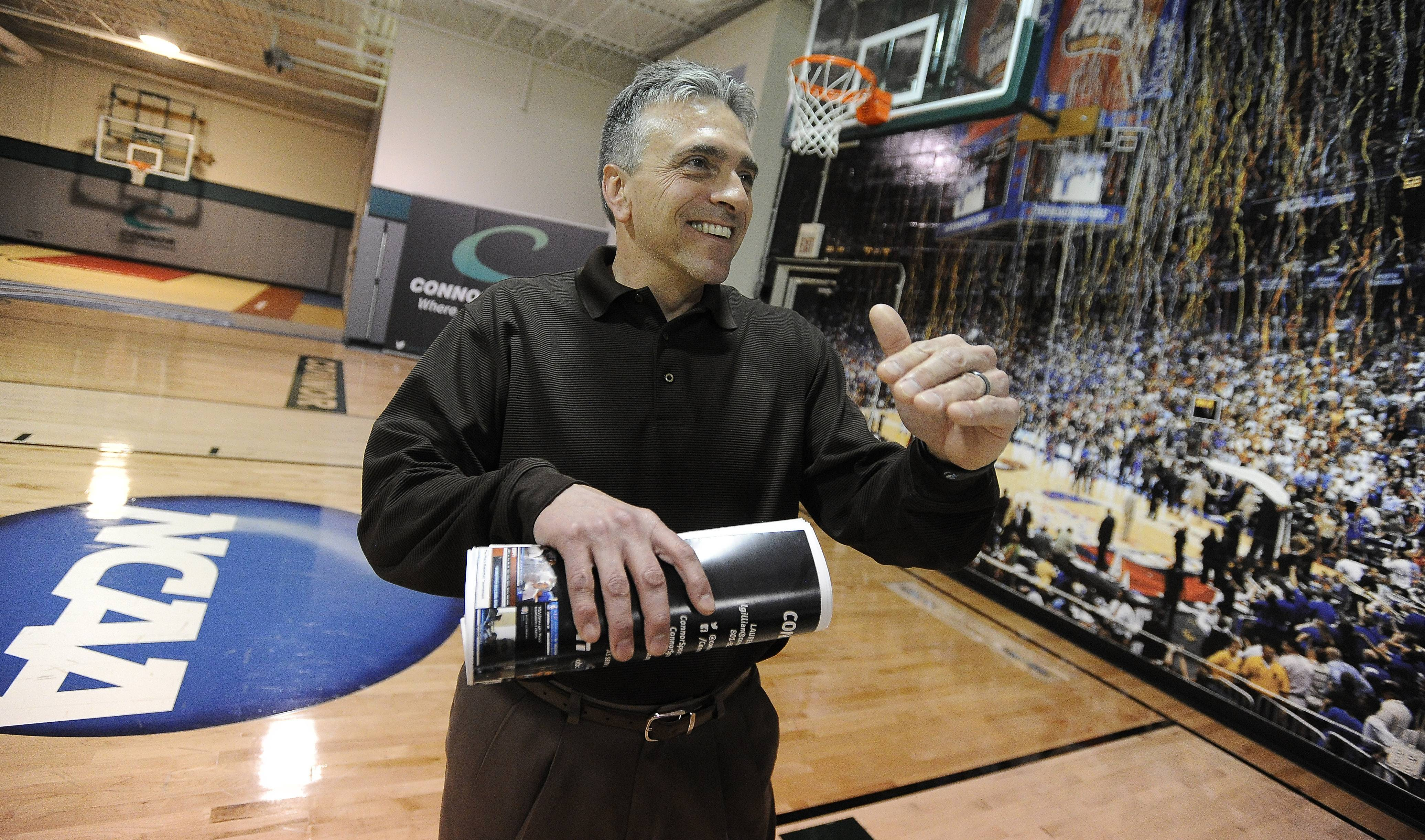 "Jon Isaacs runs Connor Sports, an Elk Grove Village-based company that has been making Final Four courts for the NCAA since 2005. ""It's about building (the NCAA's) brand, while we're also building our brand,"" he said."