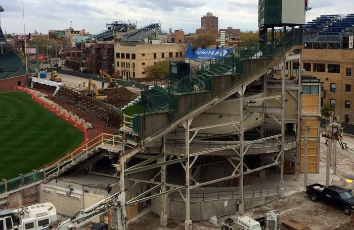 Pepper Construction, based in Chicago and Barrington, is working on the renovation of Wrigley Field.