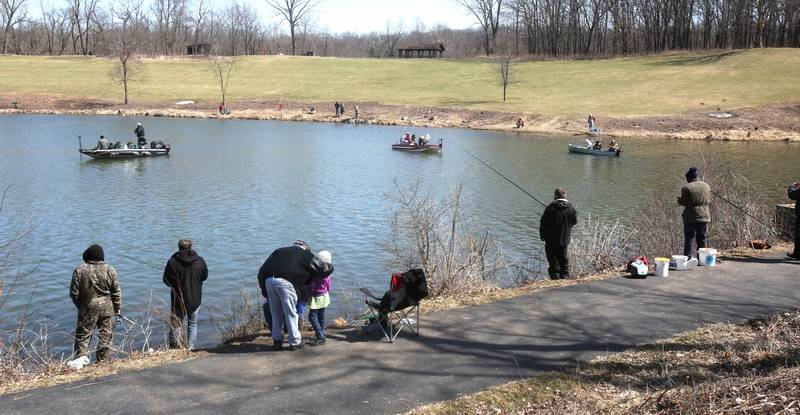 Fish story trout season opens in illinois for Center hill lake fishing report