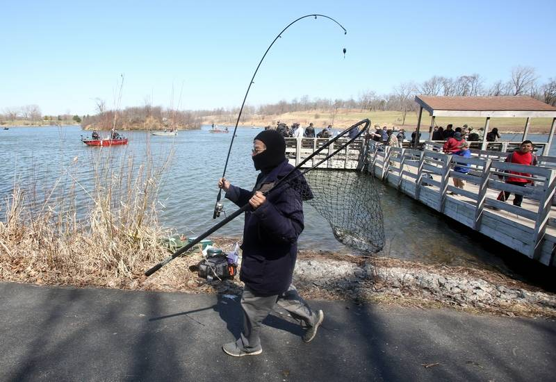 Fish story trout season opens in illinois for Fishing lakes in illinois