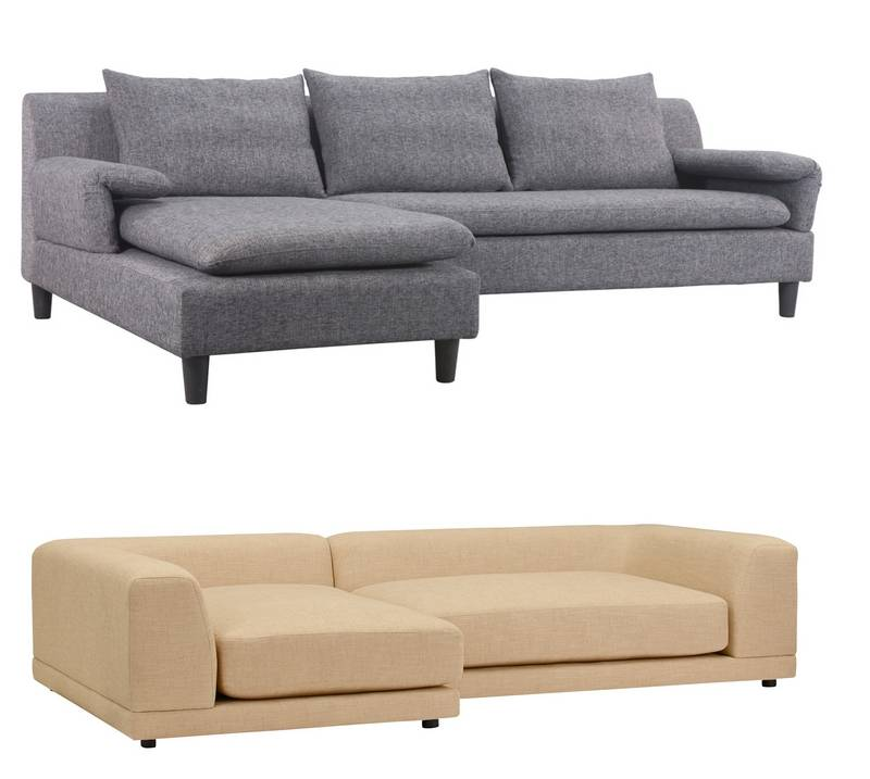 Sectionals are no longer marshmallow looking sofas of the 39 80s for Sleek sofas small spaces