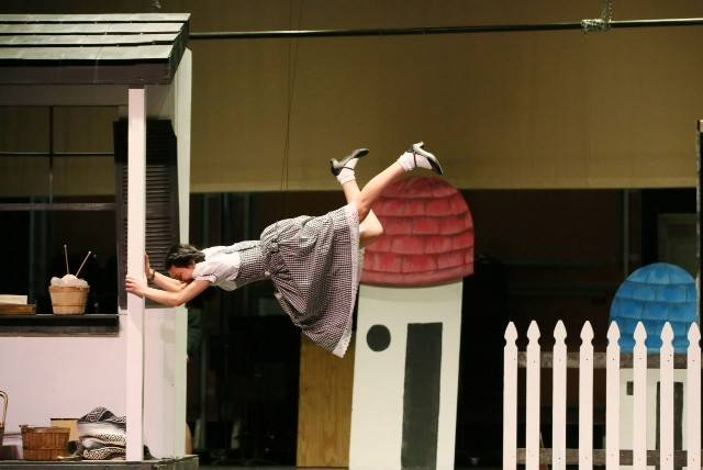 Wizard Of Oz Flying House Young actors fly high ...