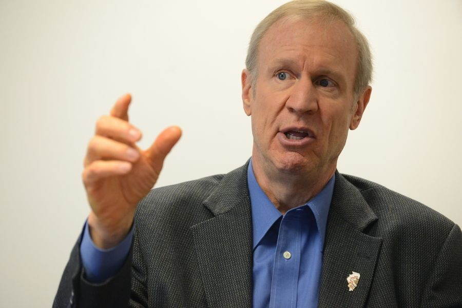 Illinois Gov. Bruce Rauner talks with the Daily Herald editorial board Tuesday about his plans for Illinois.