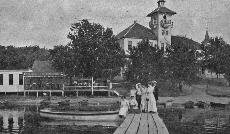 The Illinois Hotel On Nippersink Lake Was Built In 1880s And Torn Down