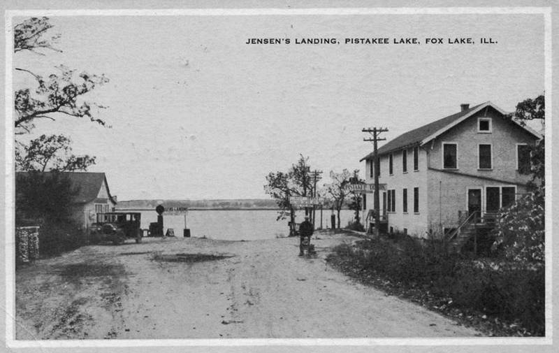 Jensen S Landing On Pistakee Lake Where Dockers Restaurant Is Now Located At The End Of West