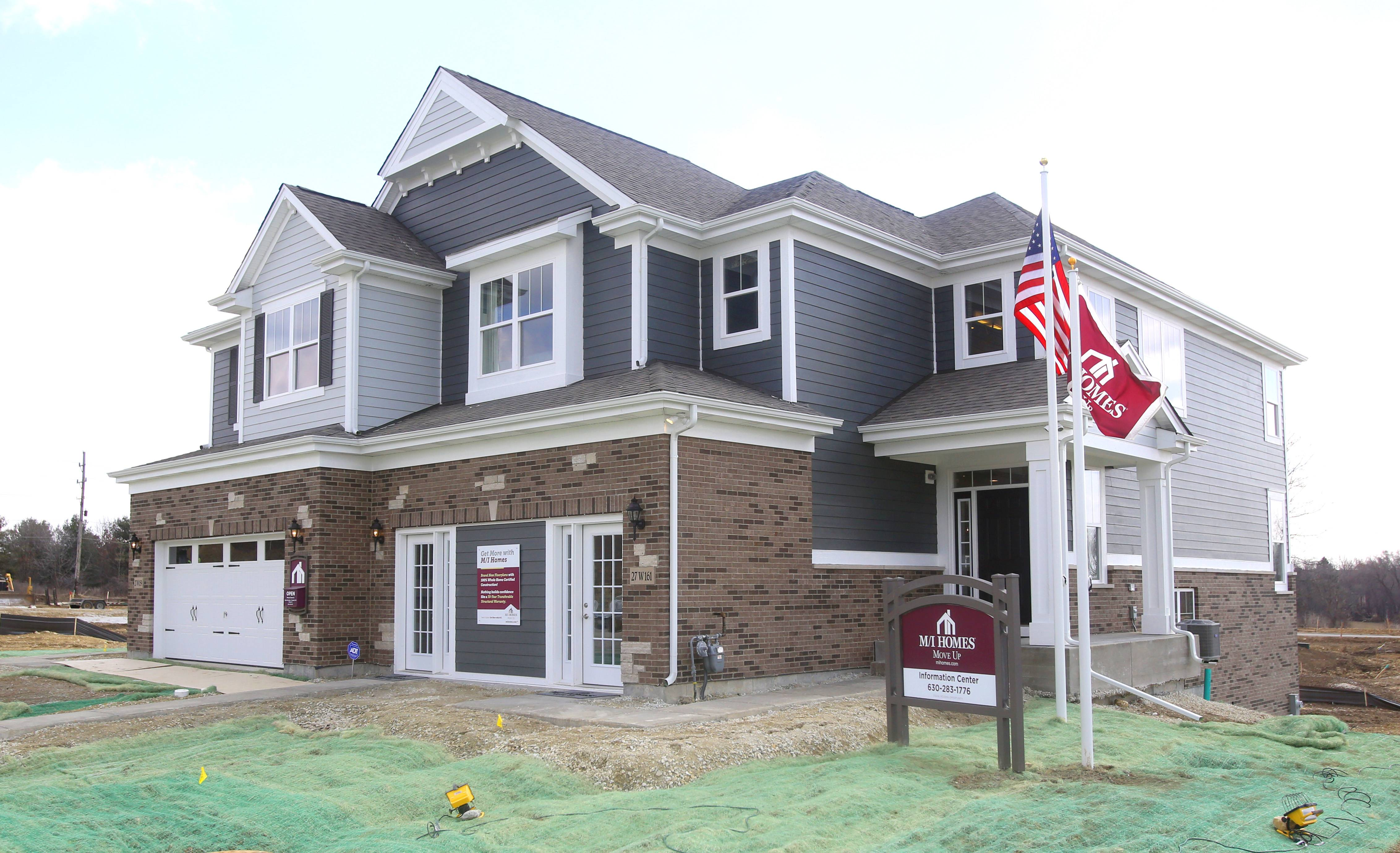 The Columbus is a new model home at Herrick Woods, a townhouse development by M/I Homes in Warrenville.