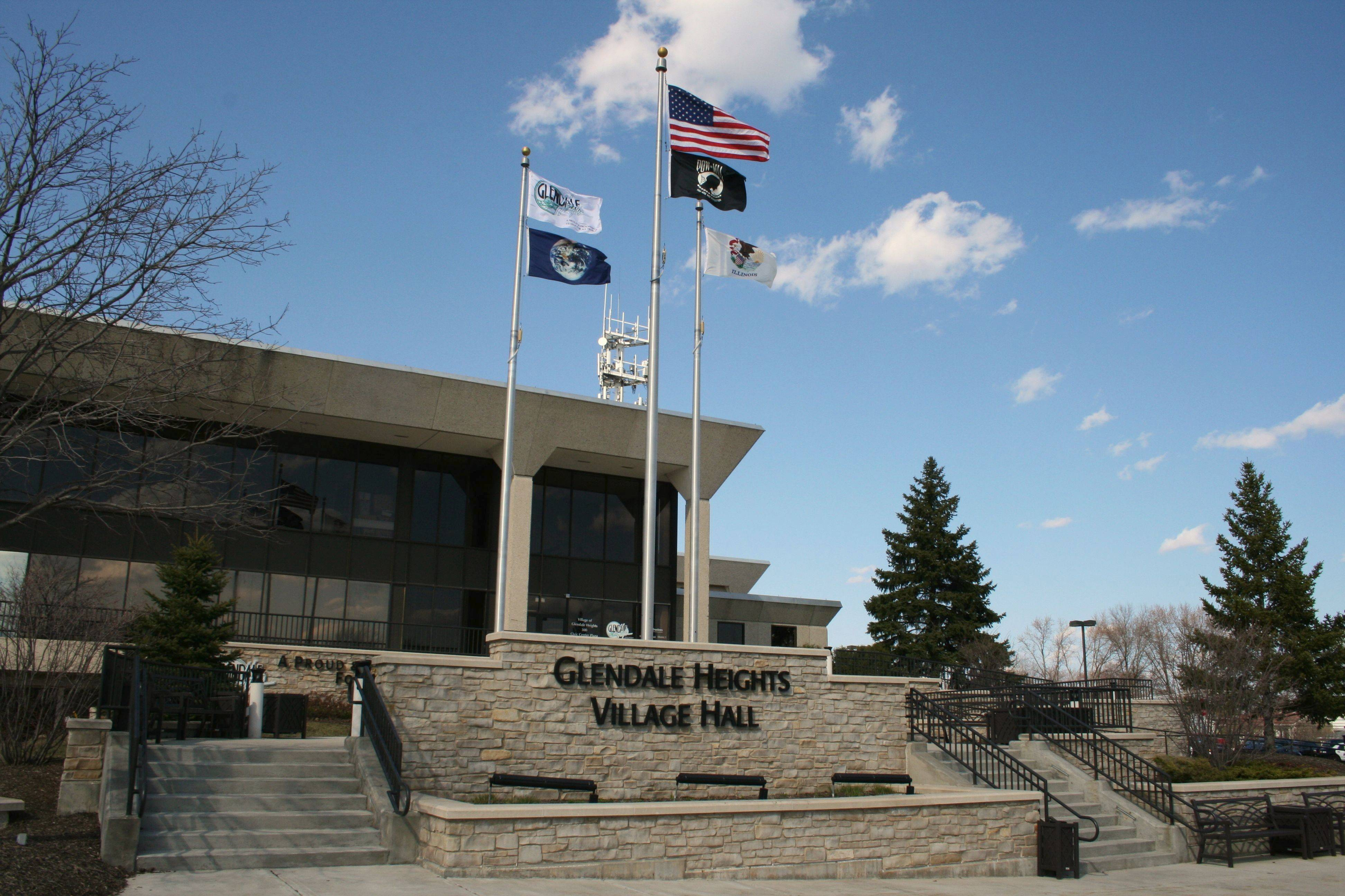 Glendale Heights' village hall at 300 Civic Center Plaza.