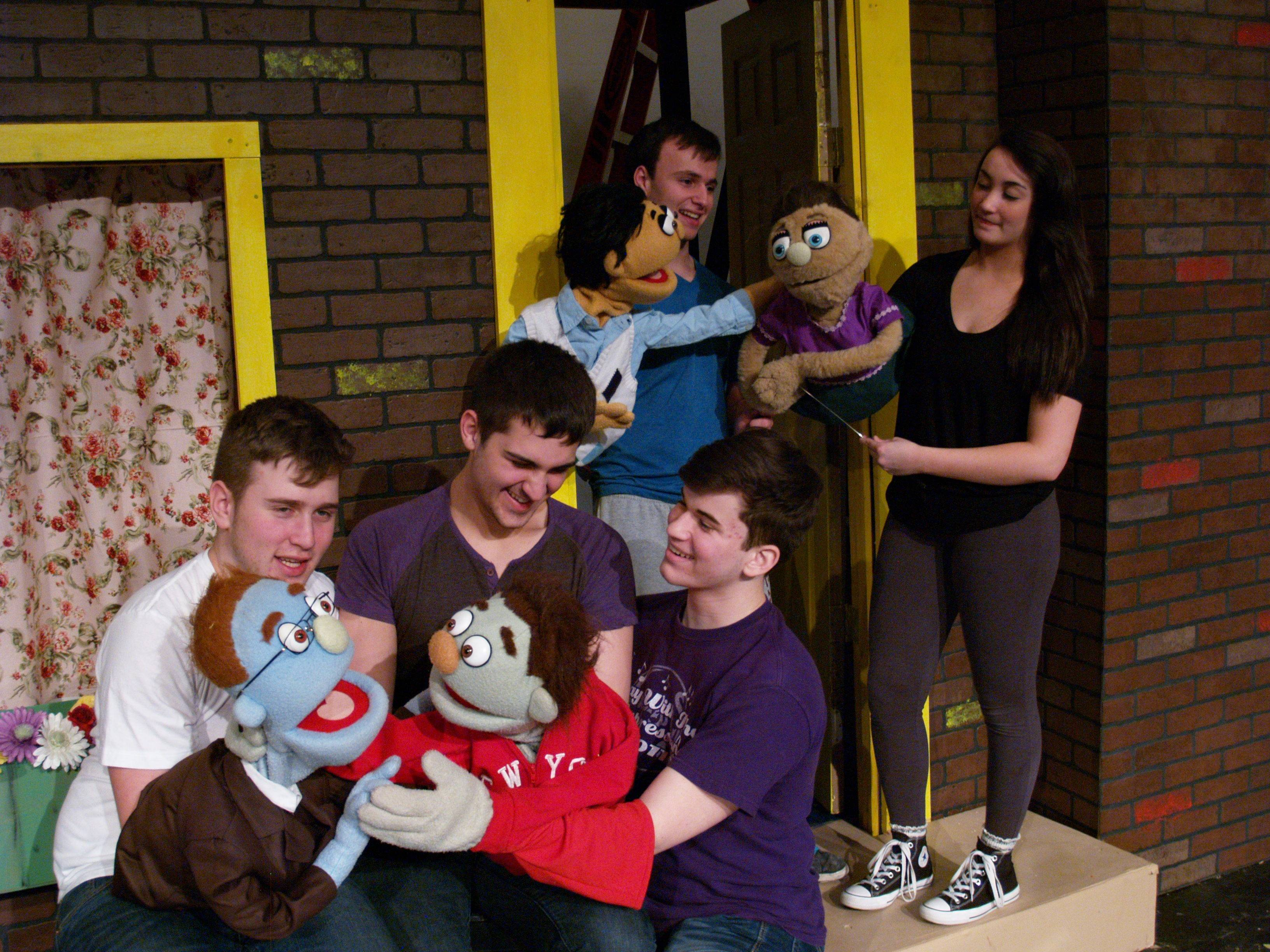 Cast #1 includes Jeremy Hamburger (with Rod the Puppet), Milan Babic and Andrew Kapinos (with Nicky puppet), Cole Festenstein (with Princeton puppet), and Paige Alvarado (with Kate Monster puppet).
