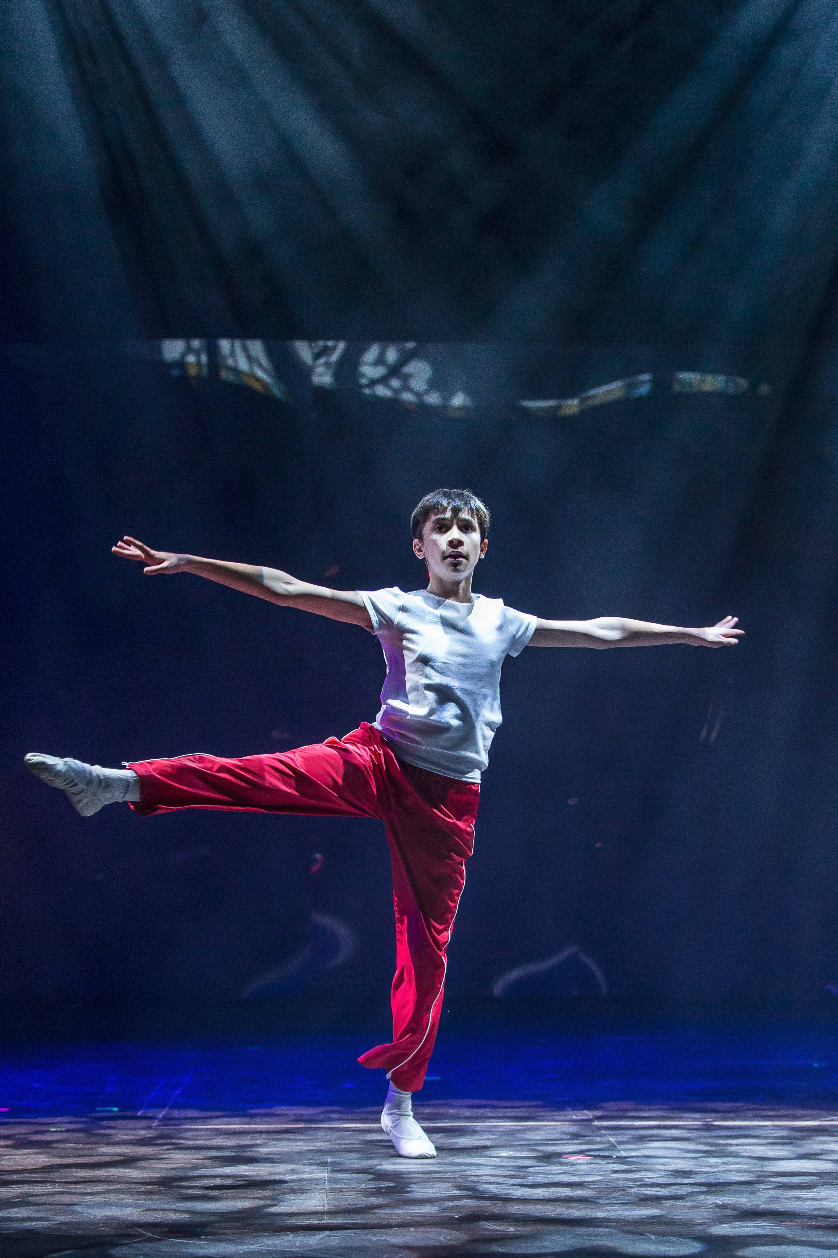 "Nicholas Dantes, 14, of Vernon Hills, is one of two suburban teens playing the titular role in Drury Lane Theatre's production of ""Billy Elliot, The Musical."" Dantes shares the role with Kyle Halford, 16, of Naperville."