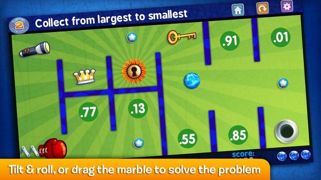 The Marble Math app is designed to make math practice fun for kids age 9 and older.