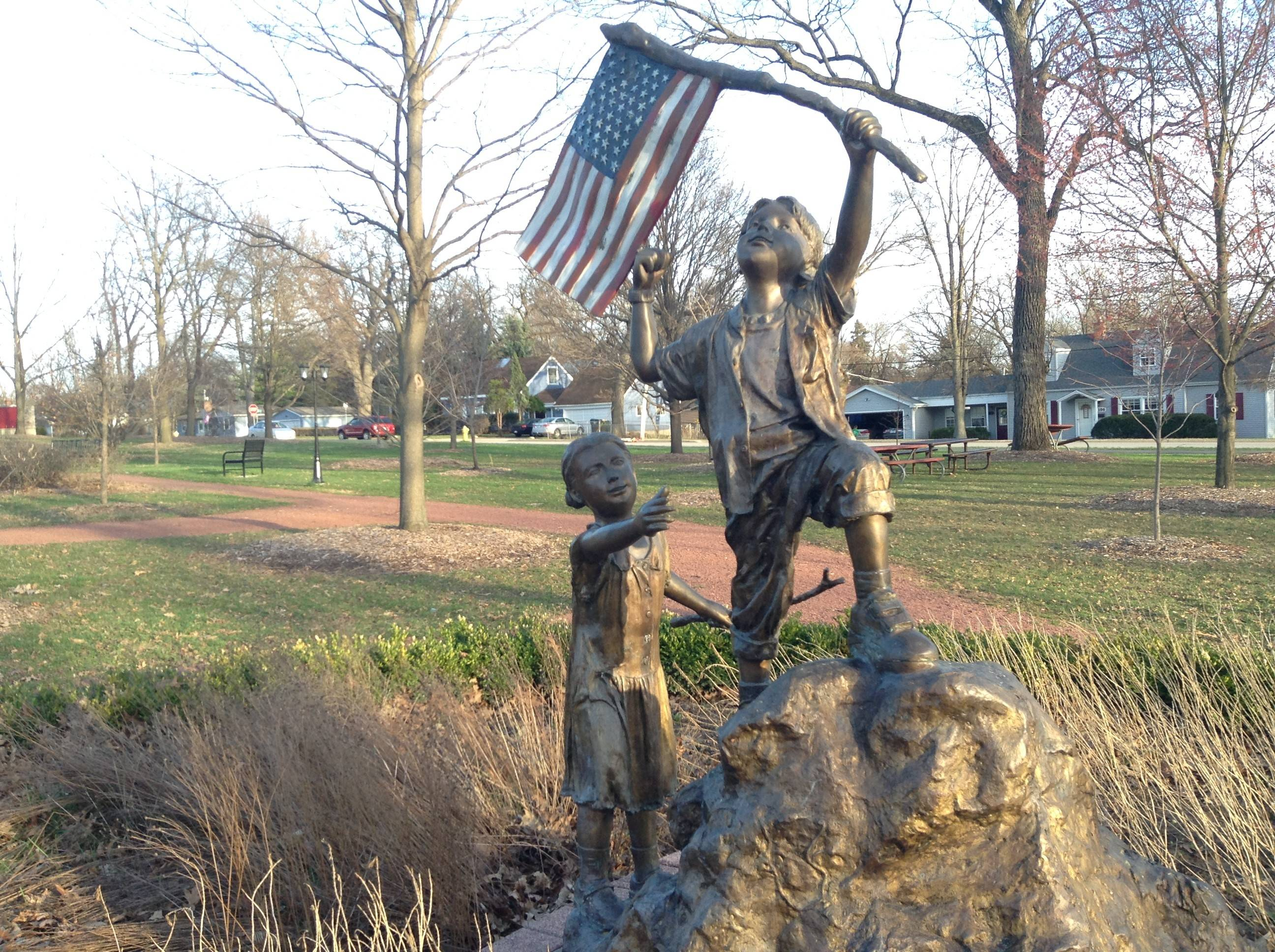 A statue in the Reed Keppler Park.