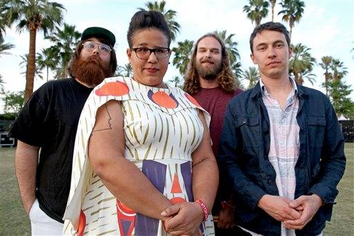 "Alabama Shakes — Zac Cockrell, left, Brittany Howard, Steve Johnson and Heath Fogg — release their latest album, ""Sound & Color,"" on Tuesday, April 21."