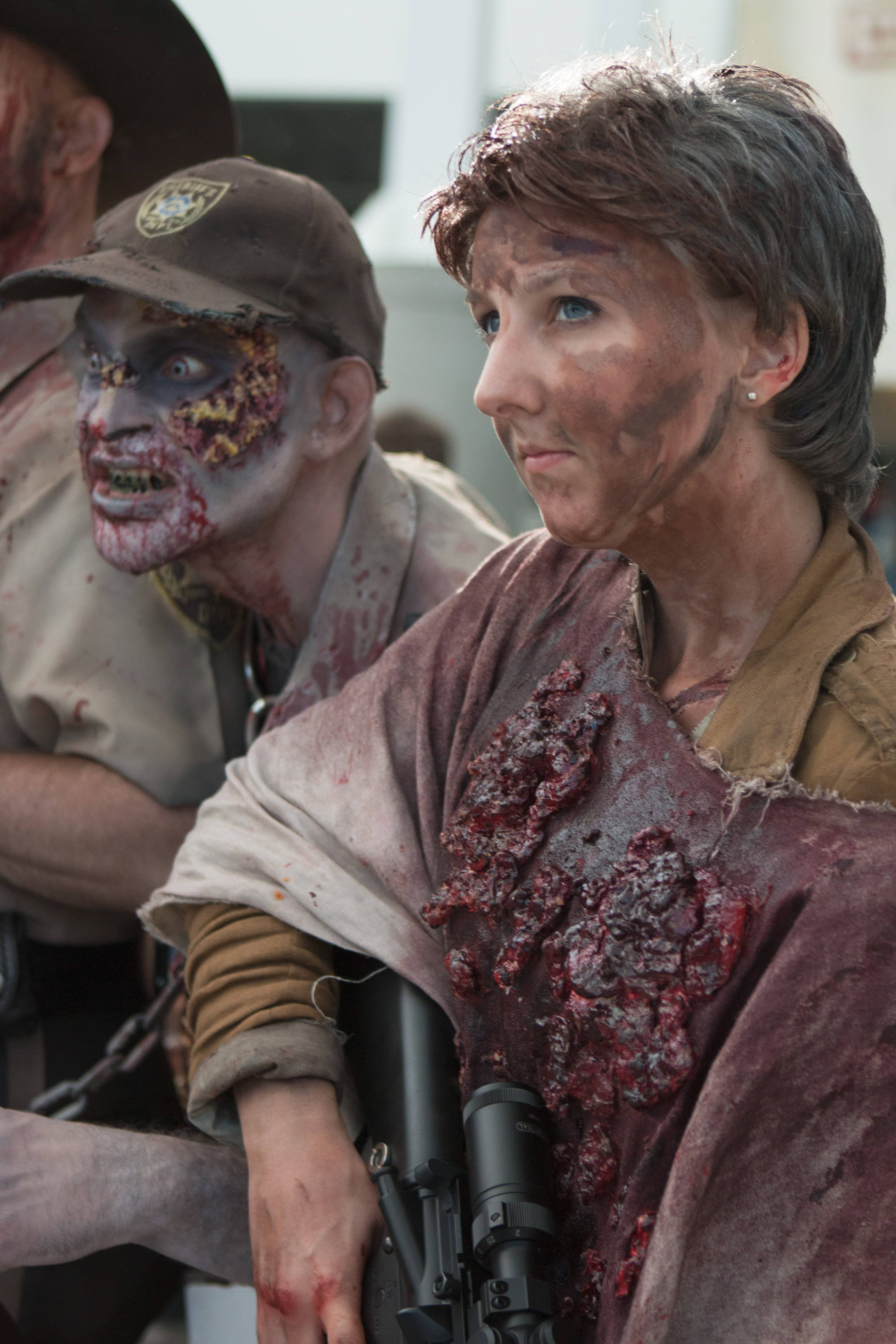 """The Walking Dead"" fans demonstrate their makeup abilities in Cris Macht's new documentary ""The Walkers Among Us."""