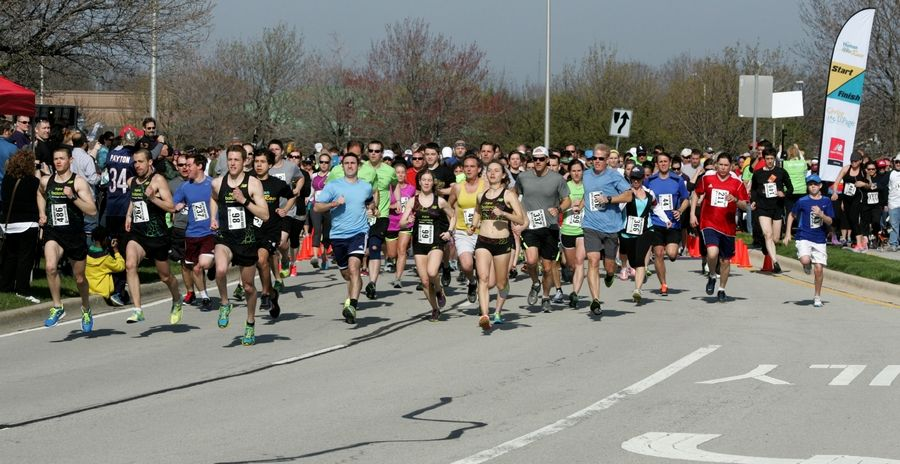 The Human Race brings together runners for a 5K that raises money for more than 60 nonprofit organizations serving DuPage County. The fourth annual race steps off at 9 a.m. Saturday.