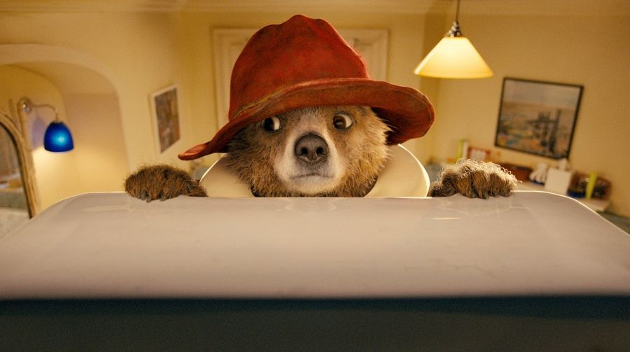 "A bear cub from Peru (voiced by Ben Whishaw) gets into a bit of trouble adapting to life in London in ""Paddington."""