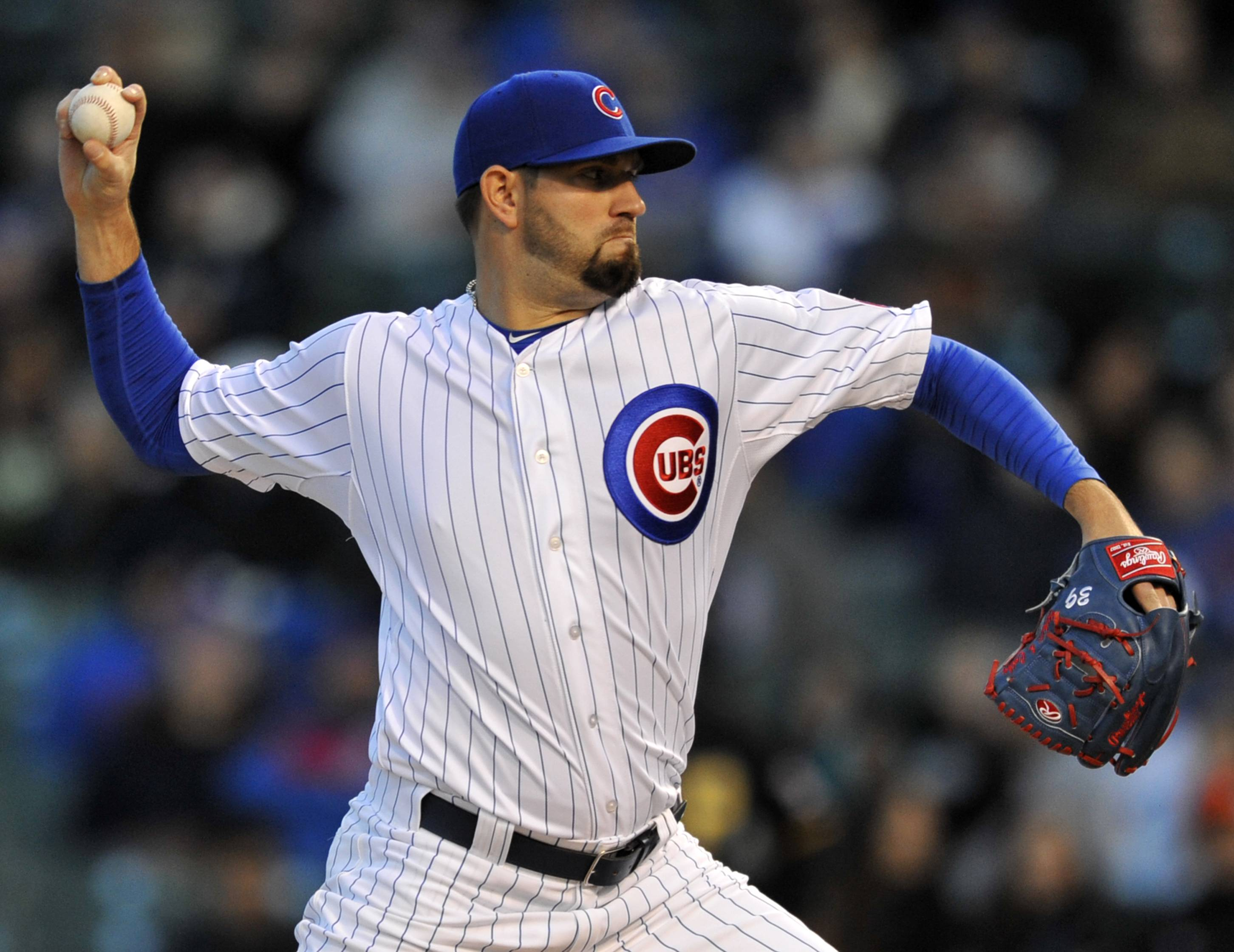 Cubs starter Jason Hammel worked 8 shutout innings Monday against the Pirates, allowing 4 hits with 7 strikeouts and no walks at Wrigley Field.