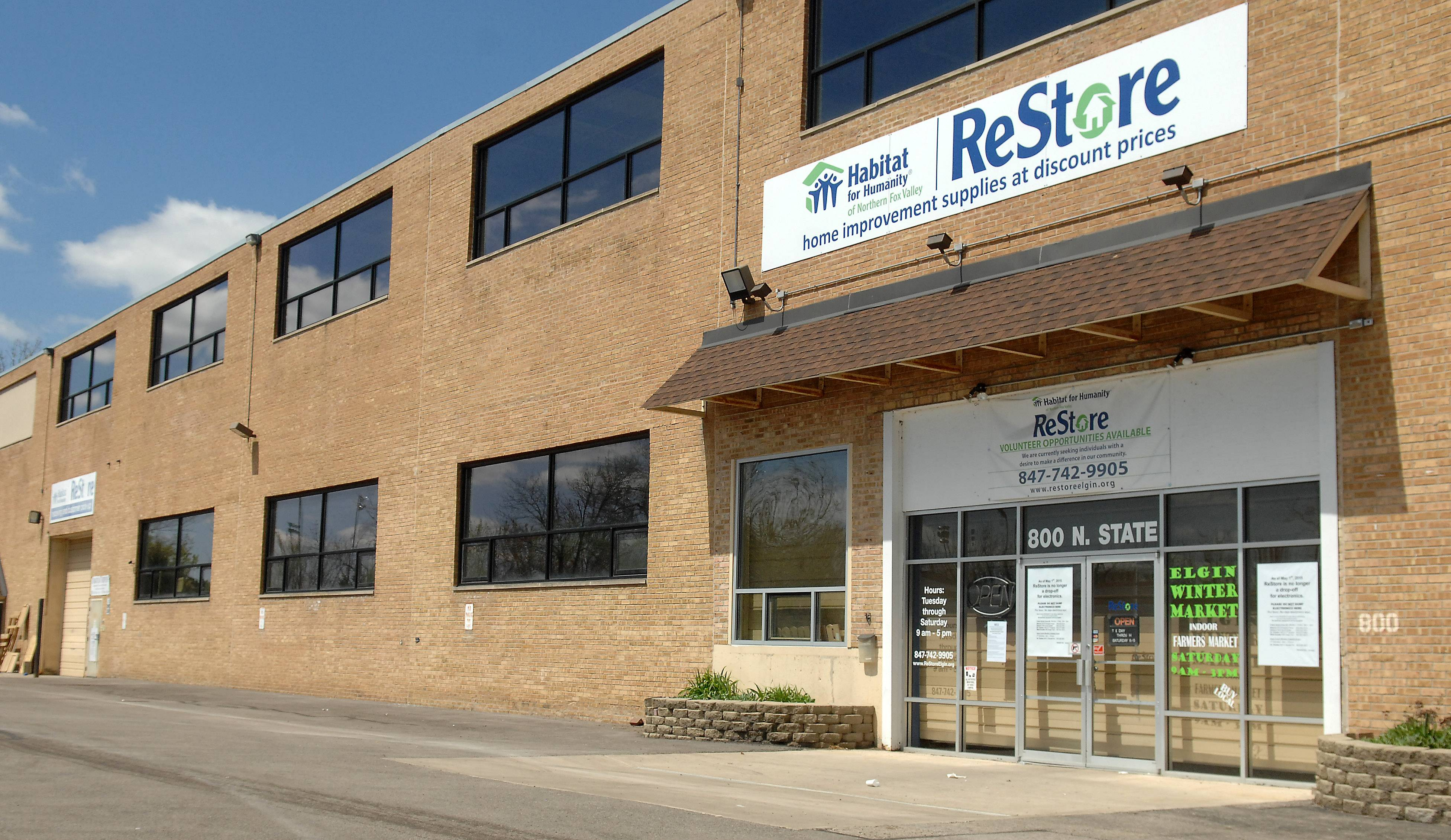 As of Friday, the Habitat for Humanity of Northern Fox Valley ReStore no longer will be an electronics collection site. Drop-off locations at public works buildings in Batavia, Geneva, St. Charles, and West Dundee will remain open.