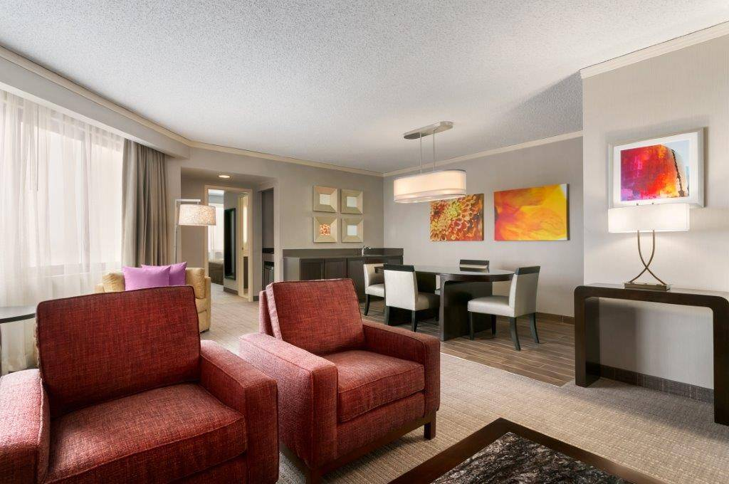 The Presidential Suite, home away from home for those partaking of the Ultimate Mother's Day Getaway at Embassy Suites Chicago - North Shore/Deerfield the nights of May 7, 8, 9, or 10. Embassy Suites