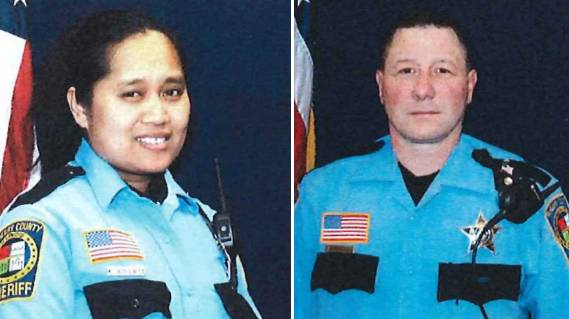 McHenry County sheriff's deputies Khalia Satkiewicz and Dwight Maness